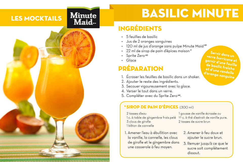 Minute Maid - Basilic Minute